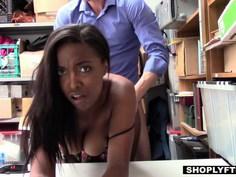 Young ebony sucking dick to avoid jail