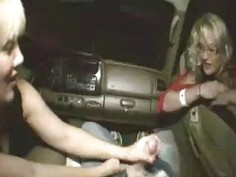 Milf And Teen Tag Team Makes His Dick Go Spurt