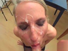 Blonde German MILF Cumshot Compilation