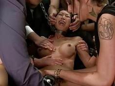 Pussy torture for an appealing sex villein