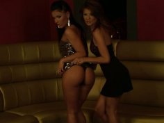 Jasmine Rouge and Honey Demon are filming seductive lesbian sex video