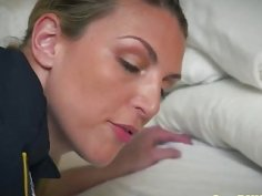 Busty female police officers with big tits in uniforms getting fucked hard by a BBC