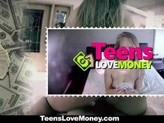 TeensLoveMoney - Desperate Slutty Teen Fucked For Cash