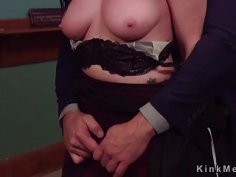 Bdsm couple anal fucked in front of slave