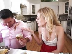 Alexa and valentina enjoy themselves as they share one massive dick