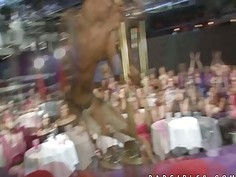 Lonely housewives enjoy male stripper