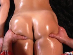 Bill Bailey massages oiled body of Dillion Harper
