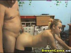 Hot Hardcore Fucking of Amateur Couple on Cam