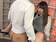 Asian office worker treats sexual desire