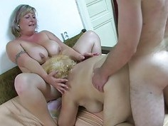 OldNanny Chubby granny bathed and then has threeso