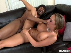 Passionate Richelle Ryan sucks the dick like a lollipop and gets banged by a hard black rod