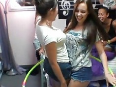 Racy and rowdy dorm orgy with sweethearts and guys