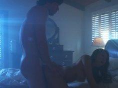 Romantic sex scene with voluptuous Asa Akira in bedroom