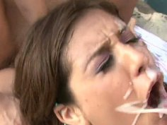 Showering slutty babes get fucked at once