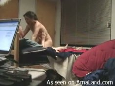 Skanky bitch gets fucked hard and videotaped on a hidden camera