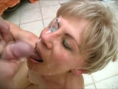 Repulsive pale whore Rosalie gets fucked from behind on the floor