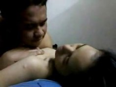 Amateur Indonesian teen eagerly awaits big cock in her hole