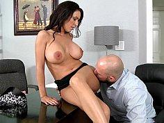 My boss is the best breast boss!