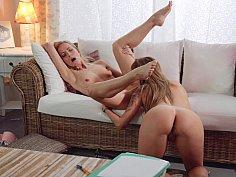 Lusty lesbian love-making