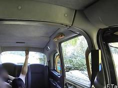 Hot teen tourist fucking in London fake taxi