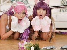 Sexy Asians kitties wanna play on Faapy