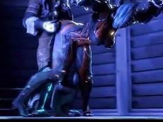 Alien Girl Destroyed by Monster Alien!