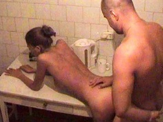 Me and my GF in the kitchen scene 1