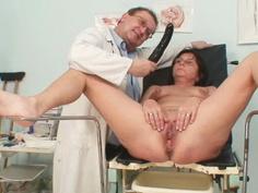 Elder pierced pussy woman bizarre pussy exam
