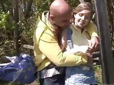 Girl guys teens Abby deep-throating meatpipe outdoor