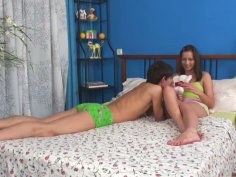 Shane bangs Kailey doggystyle after she gives him blowjob